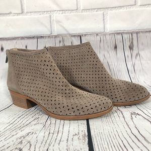 Lucky Brand Bergyn Perforated Booties Sz 9